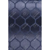 Tecido Jacquard Azul Marinho Geométrico Tradicional - 2,80m de Largura - Jacquard tradicional
