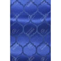 Tecido Jacquard Azul Royal Geométrico Tradicional - 2,80m de Largura - Jacquard tradicional