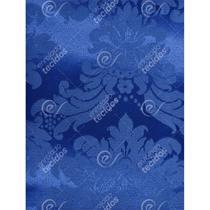 Tecido Jacquard Azul Royal Medalhão Tradicional - 2,80m de Largura - Jacquard Tradicional