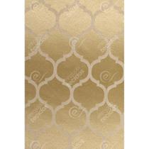 Tecido Jacquard Dourado Geométrico Tradicional - 2,80m de Largura - Jacquard tradicional