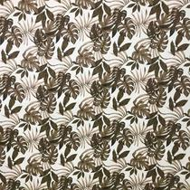 Tecido Jacquard Estampa Folhagem Marrom - 1.40m de Largura - Sua Casa Decor
