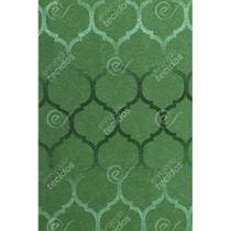 Tecido Jacquard Verde Geométrico Tradicional - 2,80m de Largura - Jacquard tradicional