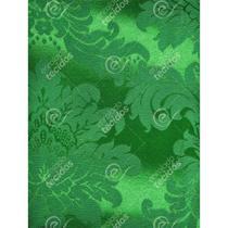 Tecido Jacquard Verde Medalhão Tradicional - 2,80m de Largura - Jacquard Tradicional