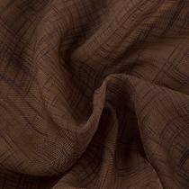 Tecido Para Cortina Voil Trabalhado Bélgica Cross Chocolate largura 3,00m - Wiler-K