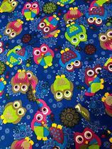 Tecido para decoração Gorgurinho corujas azul - Tmdecor