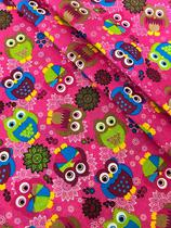 Tecido para decoração Gorgurinho corujas rosa - Tmdecor