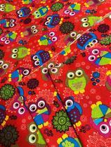 Tecido para decoração Gorgurinho corujas vermelho - Tmdecor