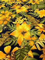 Tecido para decoração Gorgurinho floral amarelo - Tmdecor