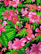 Tecido para decoração Gorgurinho floral rosa - Tmdecor