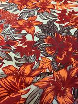Tecido para decoração Gorgurinho floral salmão - Tmdecor