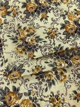 Tecido para decoração Gorgurinho floral vintage amarelo - Tmdecor