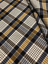 Tecido para decoração Gorgurinho xadrez azul cinza bege - Tmdecor