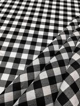 Tecido para decoração Gorgurinho xadrez branco preto - Tmdecor