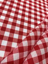 Tecido para decoração Gorgurinho xadrez branco vermelho - Tmdecor