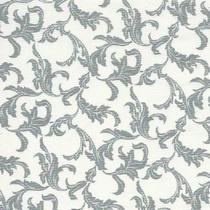 Tecido Patchwork Luxúria Cinza Folhagem Off White CM420104 - Cris Mazzer