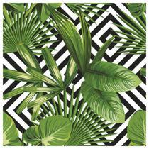 Tecido Quadrado Digital 49 x 49cm - Folhagem com fundo Losango - Marilda