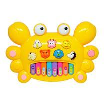 Tecladinho Musical para Bebês Divertido Siri Amarelo - DM Toys -