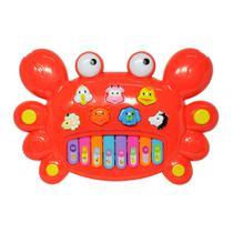 Tecladinho Musical para Bebês Divertido Siri Vermelho - DM Toys -