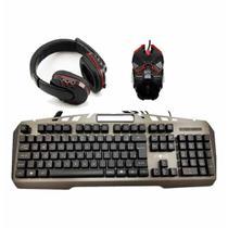 Teclado abnt+ mouse+fone gamer kmfon6526 / un / inova -