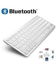 Teclado Bluetooth para Pc Tablet e Smartphone sem fio Branco - Kb teclados