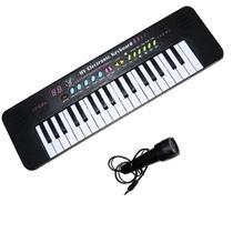 Teclado Brinquedo Infantil Rockstar 37 Teclas C/ Microfone - Importway
