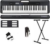 Teclado Casio Casiotone 61 Teclas CT-S300 Preto + Suporte X + Pedal Sustain -