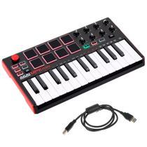 Teclado Controlador Akai MPK Mini Mk2 25 Teclas MIDI USB -