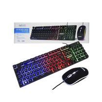Teclado e Mouse Gamer USB Com LED Colorido BK-G550 - Exbom -