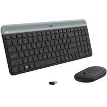 Teclado e Mouse Logitech MK470 Slim Ultrafino Teclas Chiclete Silenciosa Sem Fio ANSI Americano -