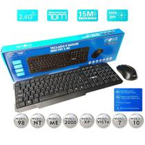 Teclado e Mouse Sem Fio 2.4G 10M 1000 DPI Inova - KEY-8389 -