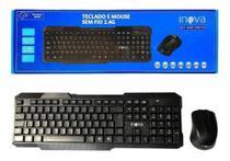 Teclado e Mouse Sem Fio 2.4G Inova KEY-8389 -