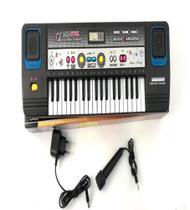 Teclado Elétrico Musical Infantil com microfone e fonte - Barcelona -