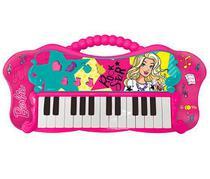 Teclado Fabuloso da Barbie + de 20 Melodias original com MP3 Player - Fun