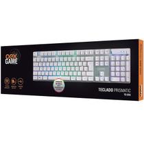 Teclado gamer branco prismatic abnt2 tc205  oex -