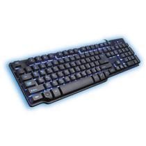 Teclado Gamer C/ Led Hydra USB Preto/Azul Mymax Semi Mecânico -