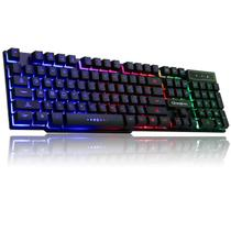 teclado gamer luminoso led rgb ghost abnt 2 semi mecanico usb - Kp