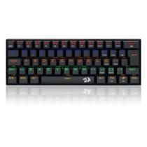 Teclado Gamer Mecânico Compacto Redragon Lakshmi Rainbow K606R Switch Blue -