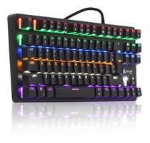 Teclado Gamer Mecânico Profissional Knup Kp-2052 Switch Blue -