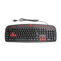 Teclado Gamer Multimídia USB Teclas Red Abnt2 Bright 482 -