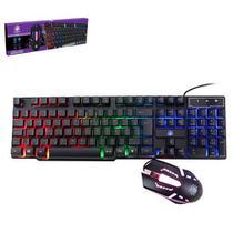 Teclado gamer nemesis + mouse start dpi 1200 03 iluminação led com ajuste -