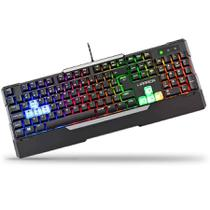 Teclado Gamer Rainbow Led Mecanico Macro Multilaser Tc208