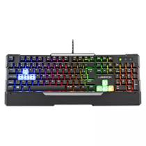 Teclado Gamer Semi Mecânico Multilaser Warrior TC208, USB - Preto