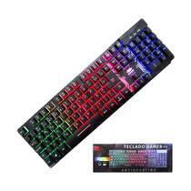 Teclado gamer semi mecanico rgb kp-tm009 -