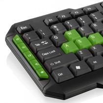 Teclado gamer verde USB TC201 - Multilaser