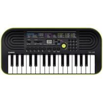 Teclado Infantil Casio SA 46 Preto/Verde com 32 Teclas 100 Timbres e Visor LCD -