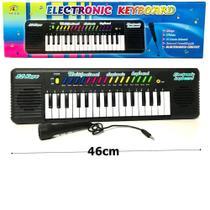 Teclado Infantil Musical 32 teclas keys com Microfone Piano - Keyboard