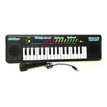 Teclado Infantil Musical 32 Teclas Keys Com Microfone Piano - Toy King