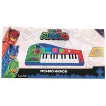 Teclado Infantil Musical Pj Masks Luz e Som Candide -