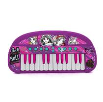 Teclado Infantil Musical Princesa Grava E reproduz Toyng -