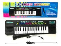 Teclado Infantil Piano Brinquedo Musical Com Karaoke E Microfone Para Crianças - Dm Toys